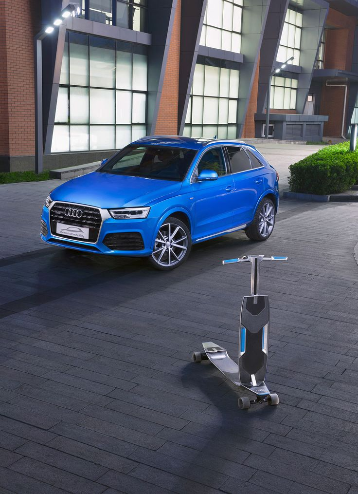 2016 Audi Q3 Connected Mobility Concept Comes with Electric Longboard