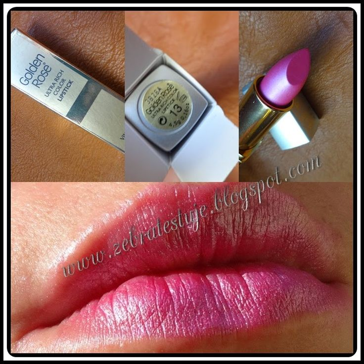Zebra Testuje: Golden Rose ULTRA RICH COLOR LIPSTICK * VITAMIN E*...