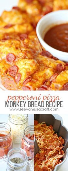 Easy Cheese & Pepperoni Pizza Monkey Bread Recipe