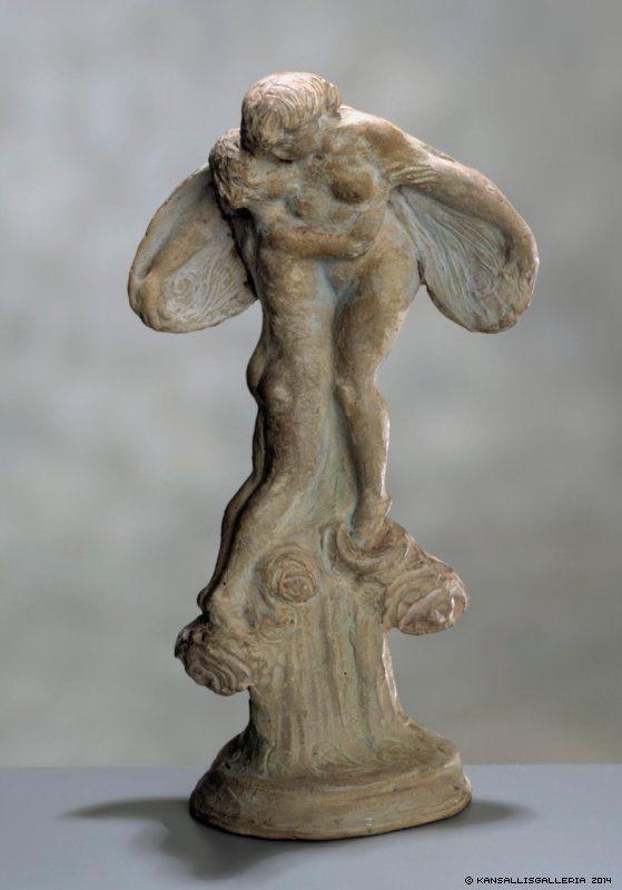 Ville Vallgren, Amor ja Psyke, 1923, terrakotta, symbolismi