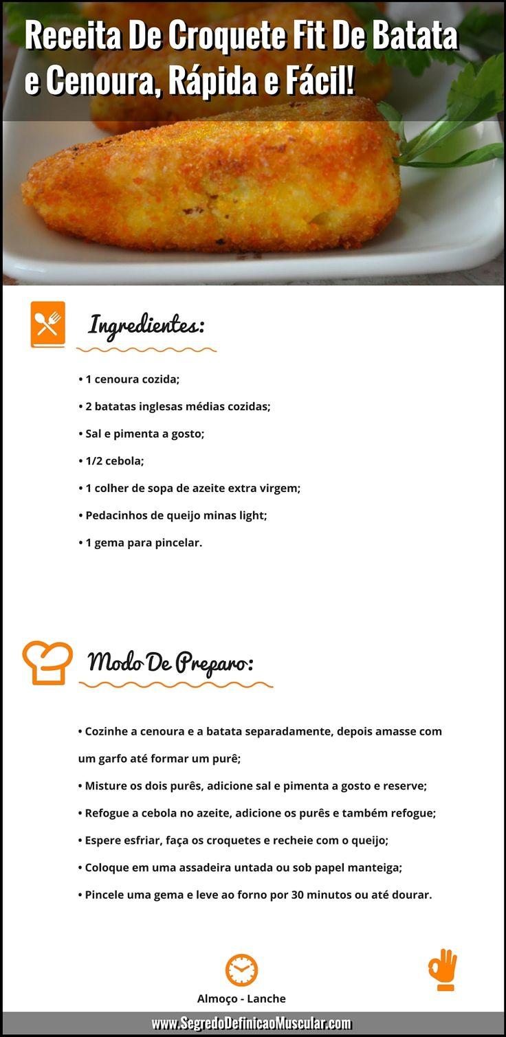 Receita De Croquete Fit... ➡ https://segredodefinicaomuscular.com/receita-de-croquete-fit-de-batata-e-cenoura-rapida-e-facil/  Gostou? Compartilhe com seus amigos...  #receitasfit #EstiloDeVidaFitness #ComoDefinirCorpo #SegredoDefiniçãoMuscular