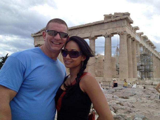 Chef Robert Irvine and wife Gail Kim on their honeymoon in Greece.