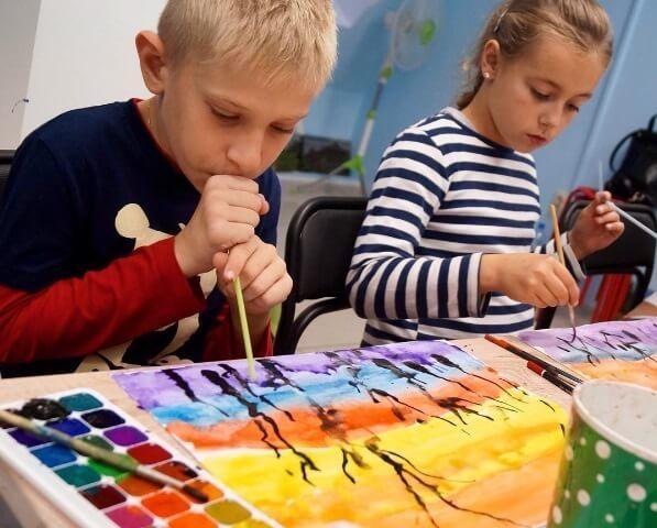 техники рисования для детей