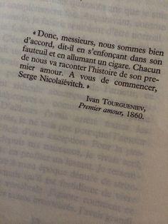 citation premier amour tourgueniev