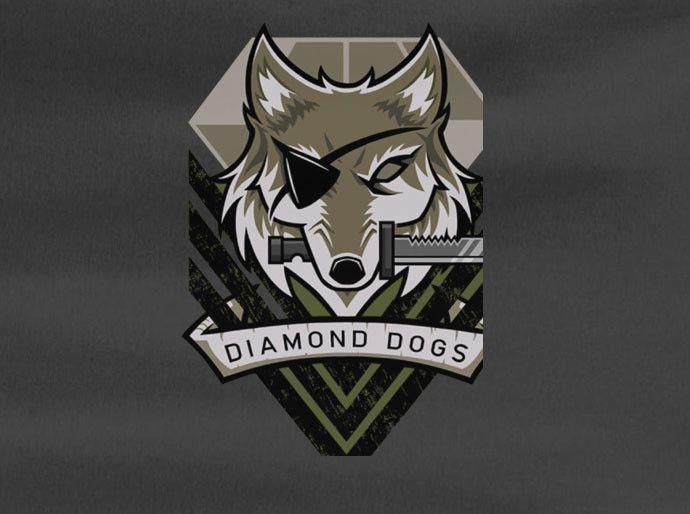 Metal Gear Solid Phantom Diamond Dogs Logo Snake Tee T-Shirt
