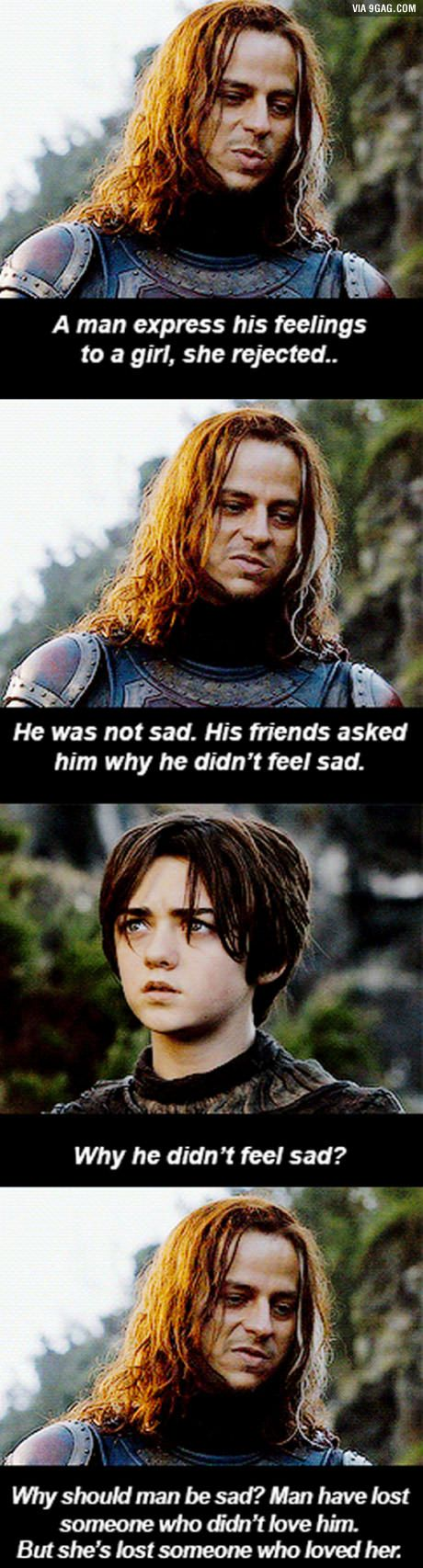 Replace man for woman and woman for man. If only i didn't feel sad... - Game of Thrones - Jaqen H'ghar & Arya Stark