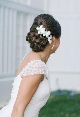 Flower accented wedding updo {Photo by Dear Wesleyann via Project Wedding}