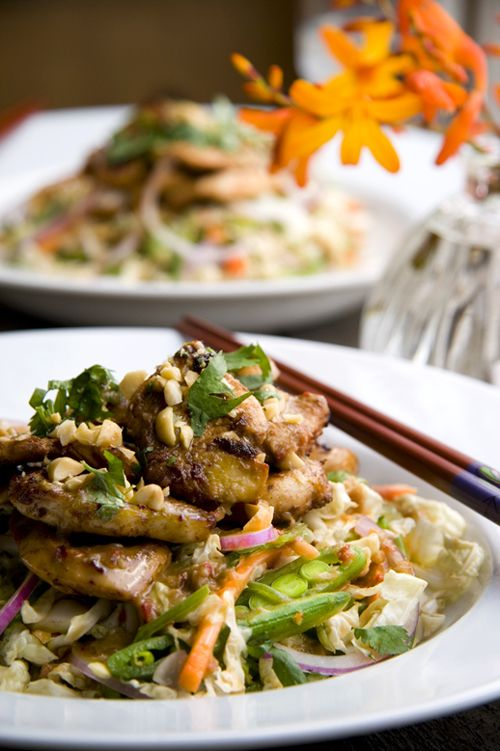 Asian Chicken Salad with Chilli, Ginger and Lime Dressing | DonalSkehan.com | HomeCooked Kitchen Blog