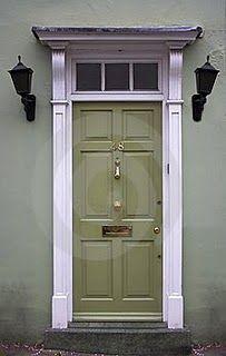 Light Olive Green Front Door