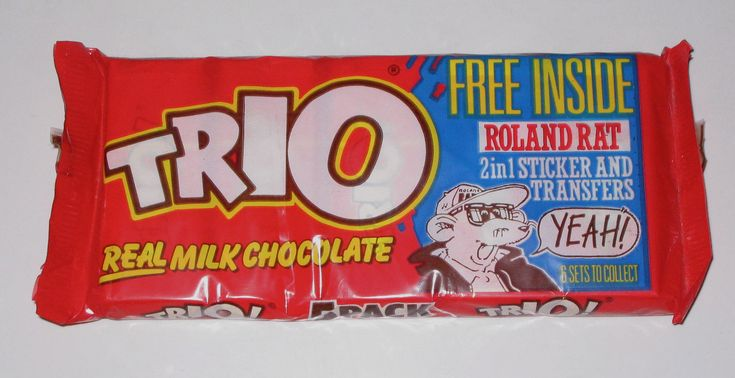 Trio... chocolate biscuit bar. Good advert