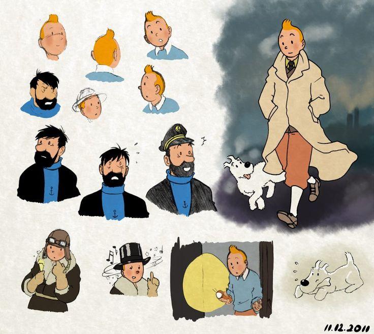 Tintin, Haddock et Milou