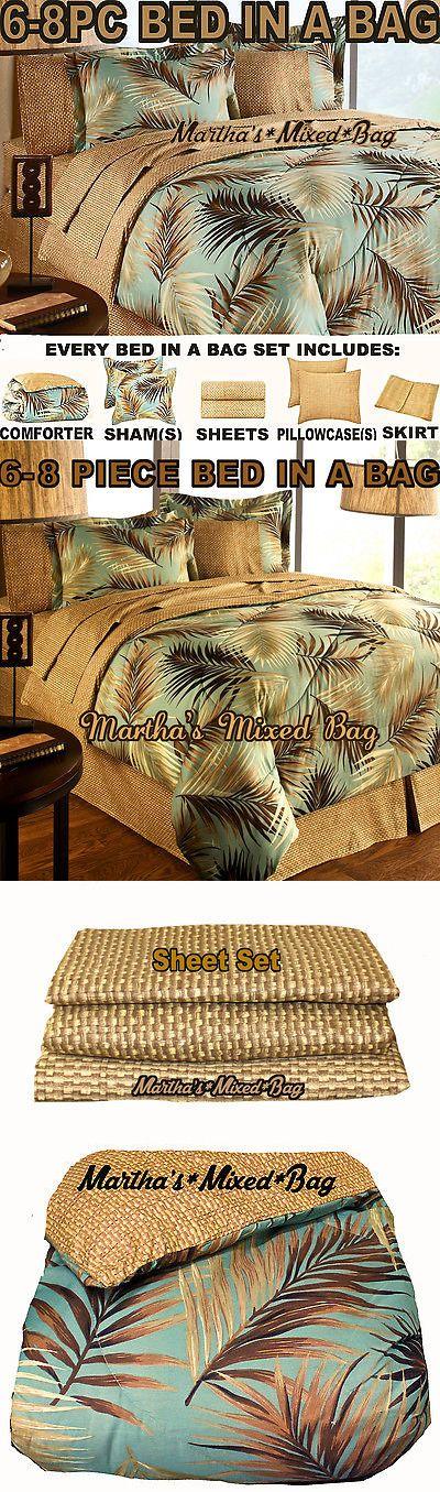 Kids Bedding: Tropical Palm Tree Leaf Leaves Nautical Ocean Beach Coasta Bedding Comforter Set -> BUY IT NOW ONLY: $79.99 on eBay!