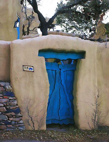 Blue Door Rd #2. Santa Fe, New Mexico.
