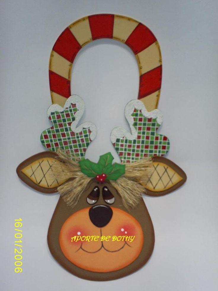 Moldes gratis de renos navideños - Imagui