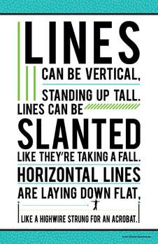 """SO Cute!  Rather than use incorrect terms like """"hamburger"""" and """"hot dog"""", you should download this free original poem that can be used to emphasize actual geometrical terms like vertical, horizontal, and slanted."""