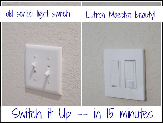 Ditch the plain ol' switch and install this one in no time flat! Via The Sawdust Girl