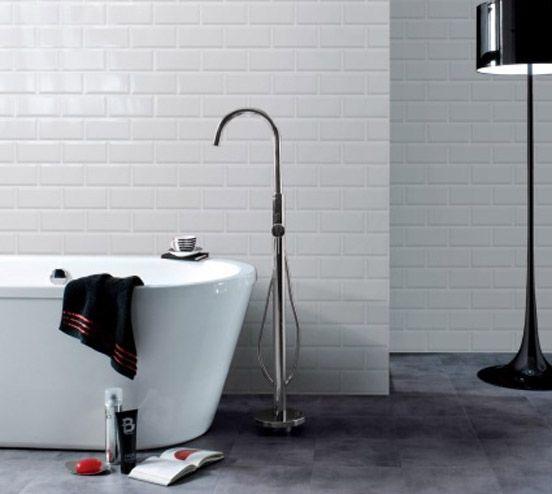 Bathroom + metro tiles