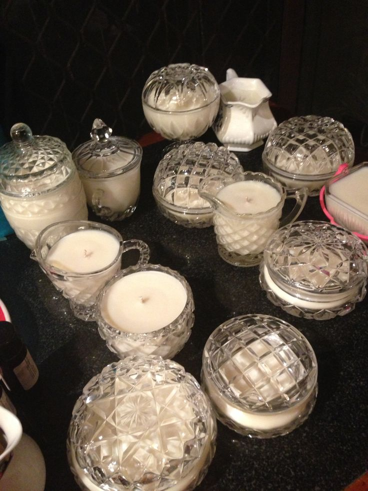 Deliciously fragranced Soy Wax Candles in stunningly sparkly vintage crystal and glass.