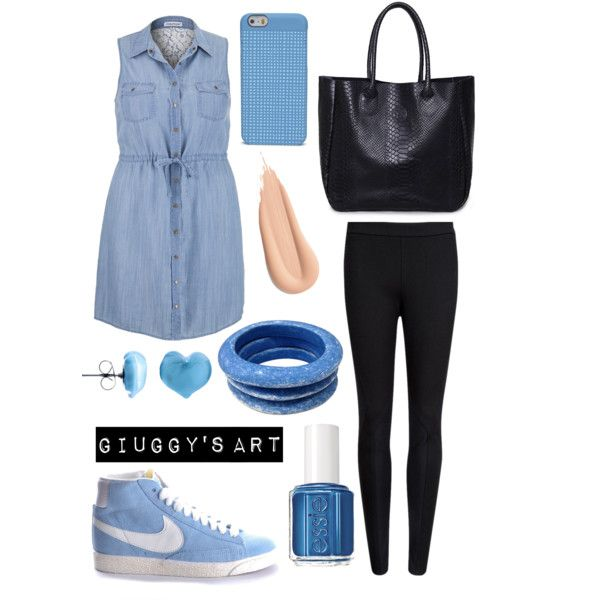 Love jeans by giuggysart on Polyvore featuring polyvore, moda, style, Ted Baker, maurices, NIKE, Tuleste, Martick and Essie