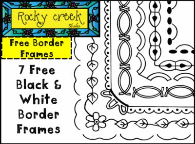 Free+Black+and+White+Border+Frames+from+Rocky+Creek+Studio+on+TeachersNotebook.com+-++(7+pages)+
