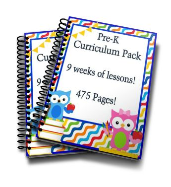 Pre-K Curriculum Pack. Everything you need to teach pre-k at home!