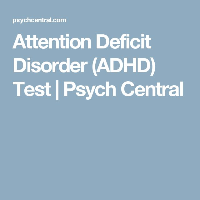 attention deficit disorder screening adult
