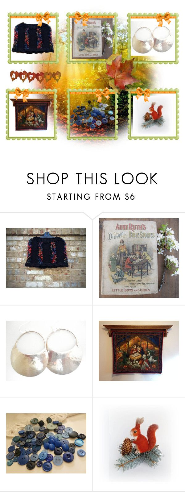 Getting ready for Fall by cozeequilts on Polyvore featuring vintage