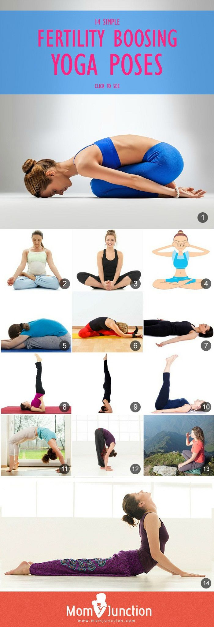 Yoga for Fertility :Doing yoga everyday enhances the body functioning and balances the mental state. With Yoga, not only your stress level comes down but emotional and hormonal balance is also achieved.These simple yet powerful fertility #yoga poses should be practiced on a routine basis.