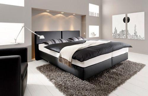 17 idee n over zwarte bedden op pinterest zwarte hoofdeinde slaapkamers en zwarte slaapkamer - Hoofdbord wit hout ...