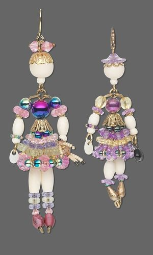Doll Charms with Acrylic Beads, Bone Beads and Party Beads -- perfect for the GrandGirls!  LTM