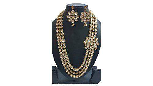 Traditional Indian Bollywood Gold Plated White Stone Wedd... https://www.amazon.com/dp/B01N2185JN/ref=cm_sw_r_pi_dp_x_7taTybEYC1W36