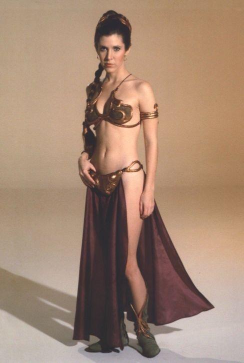 Star Wars (costume designer John Mollo). Princess Leia's gold bikini.