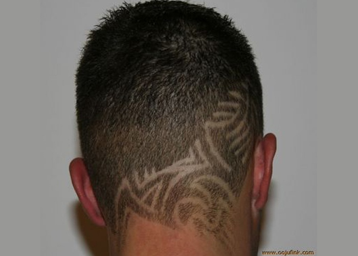 1000 images about shaved haircuts on pinterest patriots for Hair tattoo cost