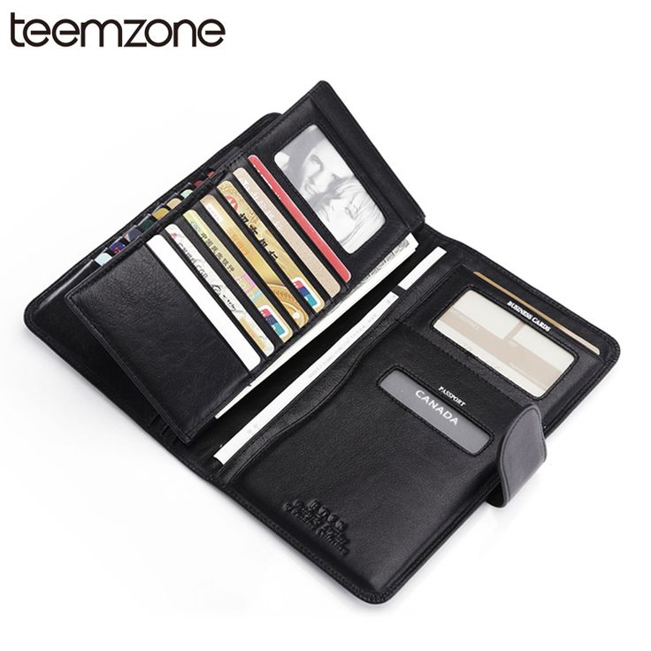 Free Shipping  Multi-card Slot Passport  Ens Business Genuine Leather Passport Document Screens ID Card Package Black K841