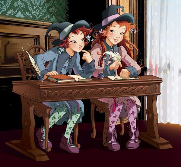 Fairy Oak-Vainilla y Pervinca Las gemelas en clase de magia