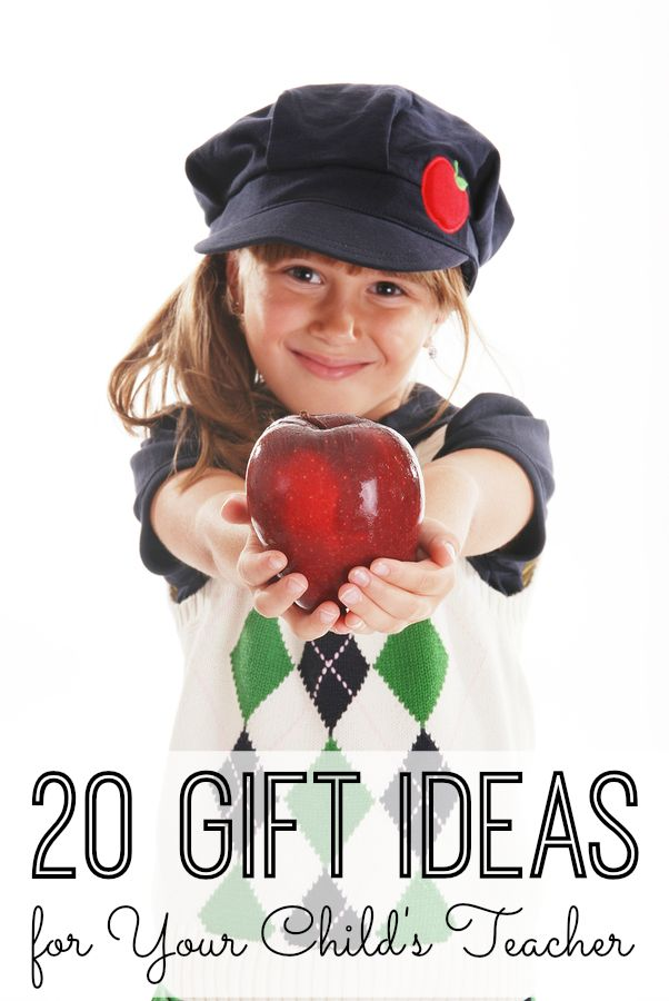 20 Gift Ideas for Your Child's Teacher. The end of the year is nearly here, and we're sharing 20 of our FAVORITE teacher gift ideas. From store bought to DIY gift ideas for teachers, you're sure to find something on this list that your kids (and your teachers) will love!