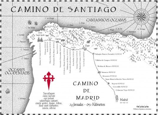 24 best Camino de Santiago Maps images on Pinterest Driveways