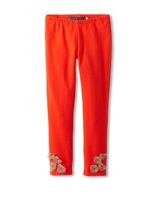 71% OFF Millions Of Colors Girl's Leopard Flower Legging (Red)