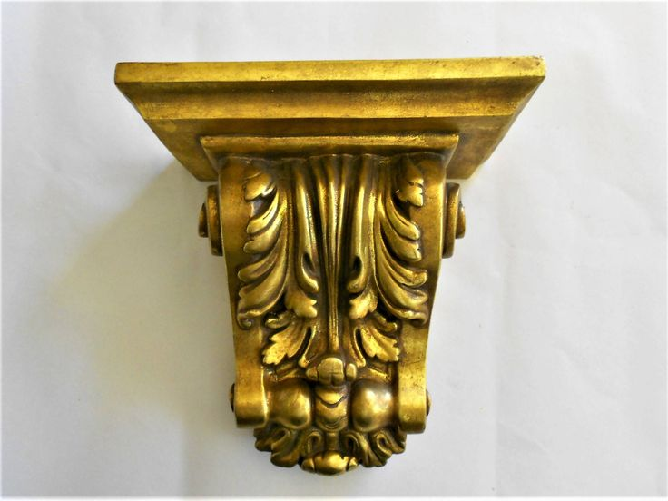 "9.25""H,Wall Shelf Sconce, Decorative Sconce, Wall Sconce Shelf, Gold Leaf Sconce, Wall Sconce, Sconce Shelf, Wall Hanging, Display Shelf by GoldLeafGirl on Etsy"