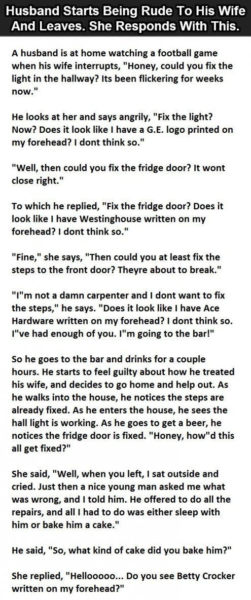 Husband Starts Arguing With His Wife But Her Response Is Hilarious funny jokes story lol funny quote funny quotes funny sayings joke hilarious humor stories marriage humor funny jokes