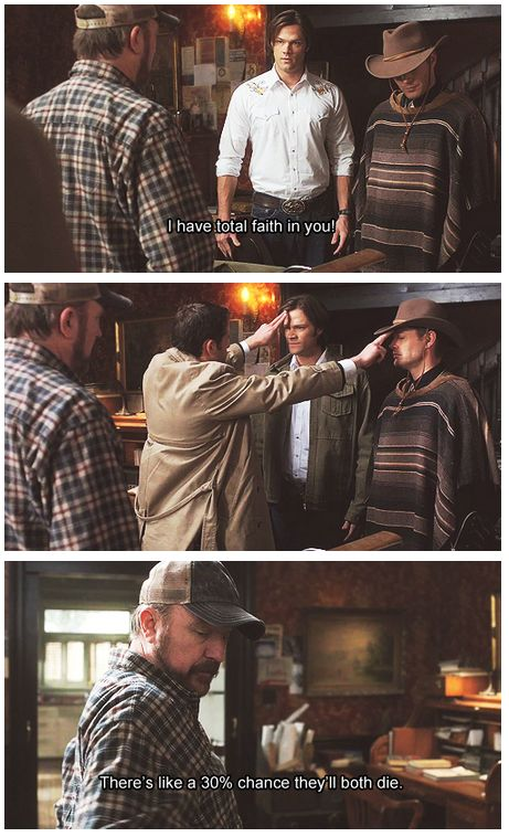 Supernatural. Bobby & Cas>>. So I just love how Sam just kinda glares when Cas touches his forehead but Dean gets all relaxed and closes his eyes cus he trusts his angel completely.