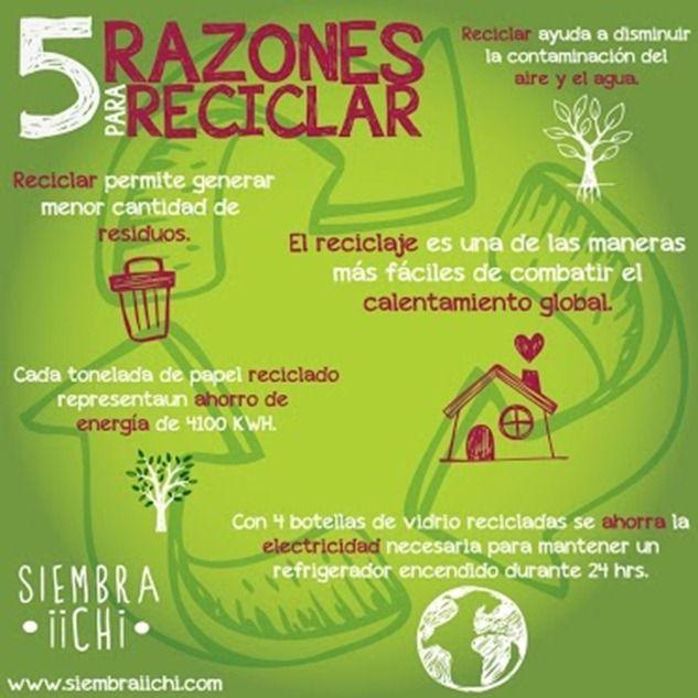5 razones para reciclar 2 5 razones para reciclar 2ª parte #infografía