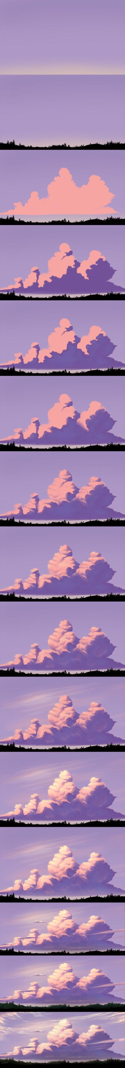 云的绘制过...来自MochaNee的图片分享-堆糖