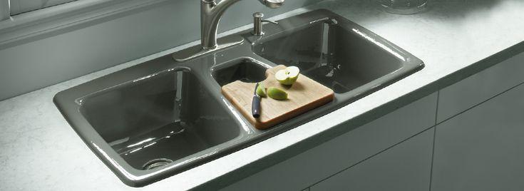 Kitchen Sinks Kohler  Basin Trieste