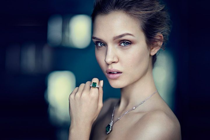 Josephine Skriver Shines in the Gemfields Rare Coloured Gemstones Campaign by Boo George