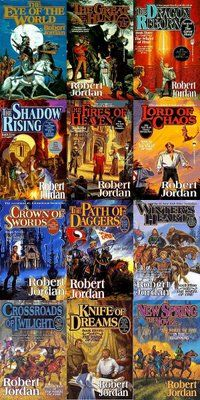 Wheel of Time series - Robert Jordan  The series was finished by Brandon Sanderson and what a finale it had! I'm already missing Rand, Egwene, Matt, Perrin, Faile, Min, Aviendha and Elayne!
