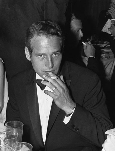 """Paul Newman at the 1961 Academy Awards, Newman was nominated for Best Actor for his role in """"The Hustler""""."""