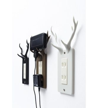 The socket deer : a handy resting place for your electronic devices.