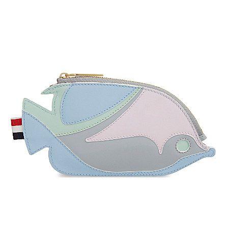 THOM BROWNE - Fish leather coin purse | Selfridges.com