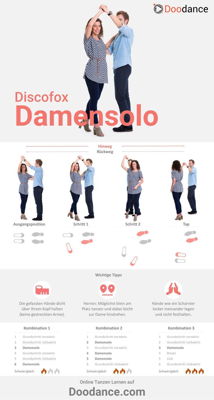 Das Damensolo ist ein echter Klassiker unter den Discofox-Figuren und gehört ins Repertoire jedes Tanzpaares. Es ist vergleichsweise leicht zu lernen, macht optisch eine Menge her und ist deshalb perfekt für Einsteiger geeignet.